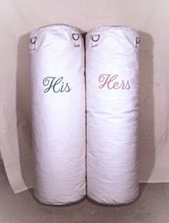 His and Hers Punching Bags