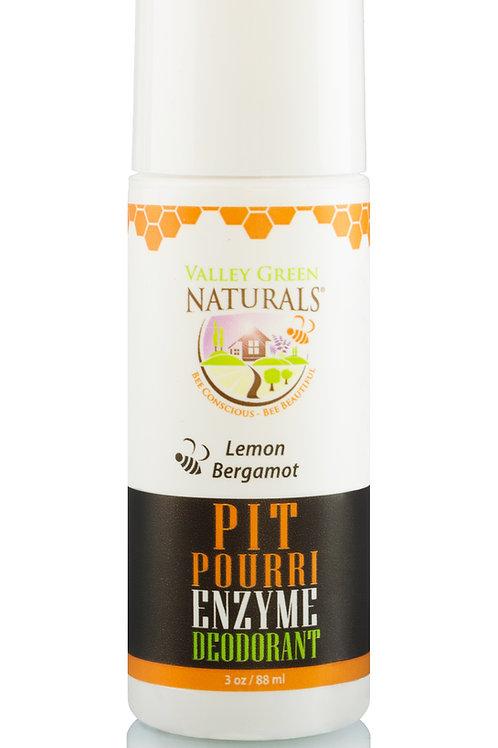 Pit Pourri Enzyme Deodorant - Lemon Bergamot