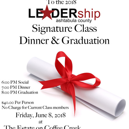 You're Invited to the 2018 Signature Class Dinner & Graduation!