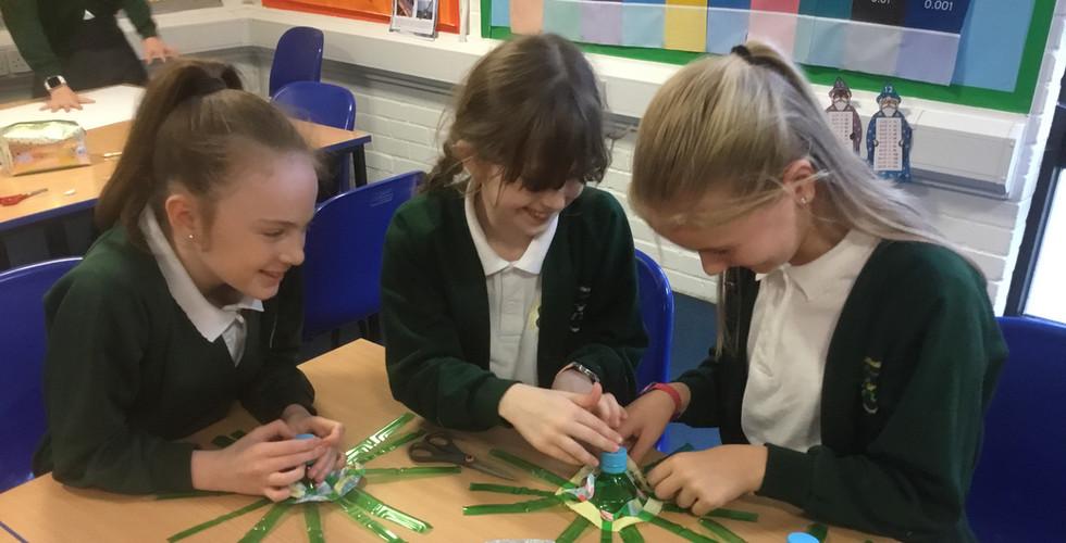 School Children Making Dragons