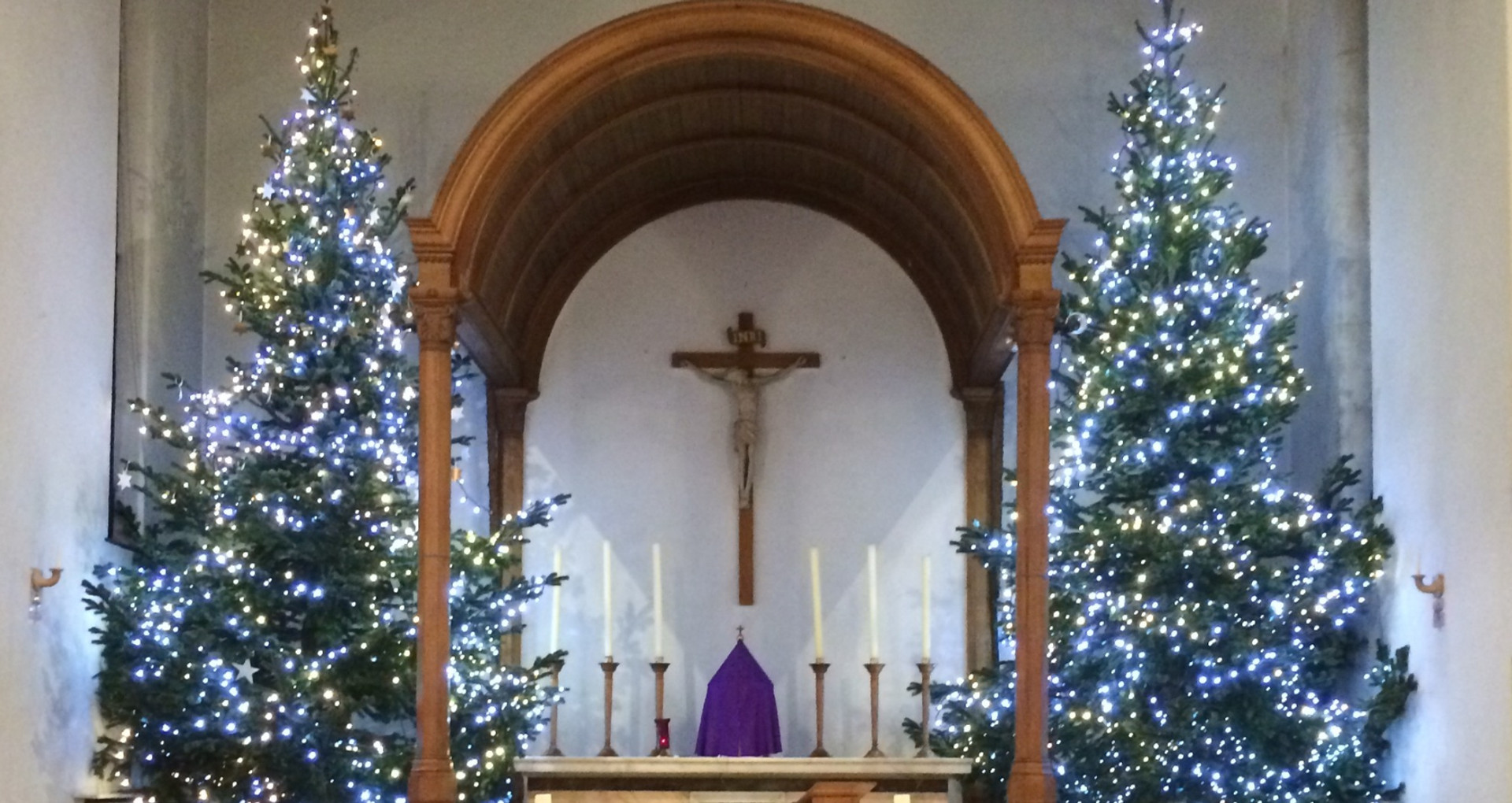 St Patrick's Church at Christmas