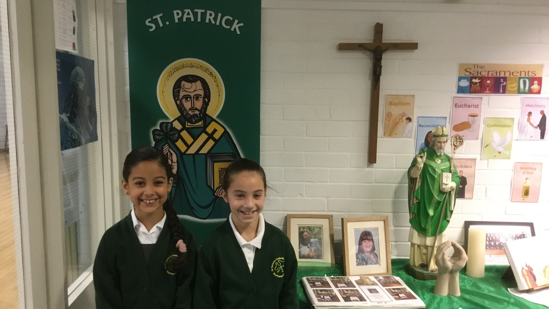 Catholic School Prayer Table