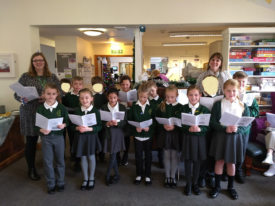 Carol singing for the residents