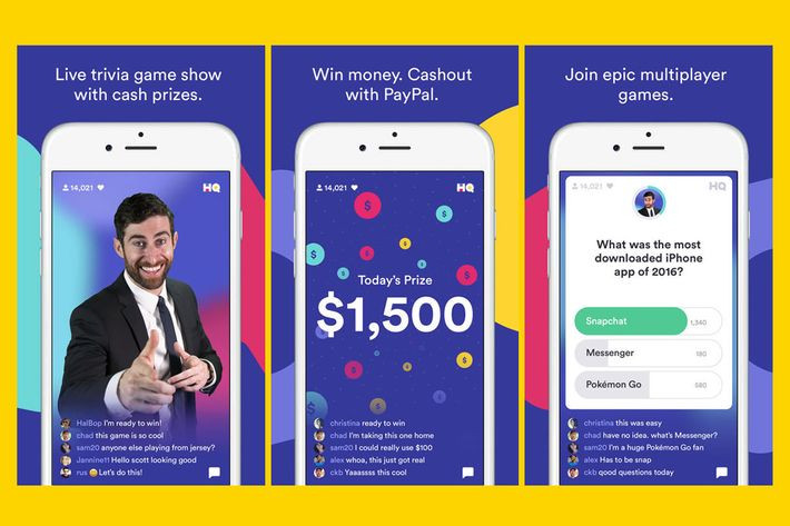 Image result for hq trivia game