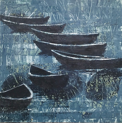 SOLD Moonlit Boats