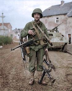 Pfc. Robert E. Leightm after the capture