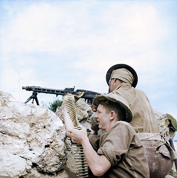 British soldiers in Tunisia during World