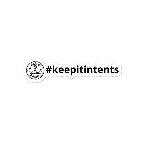 #keepitintents Logo Sticker