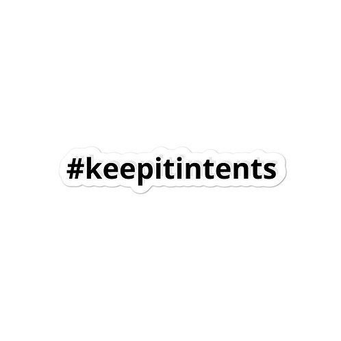 #keepitintents Sticker