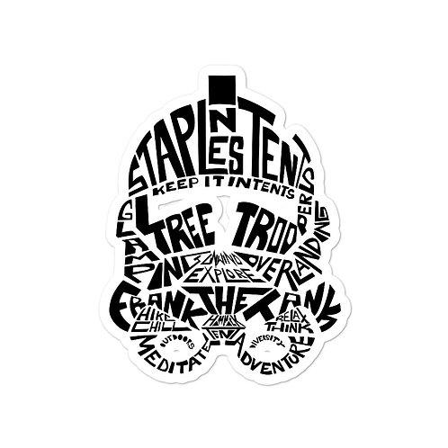 Tree Trooper Helmet Sticker