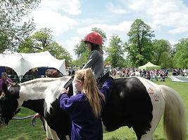 Pony rides at village fair