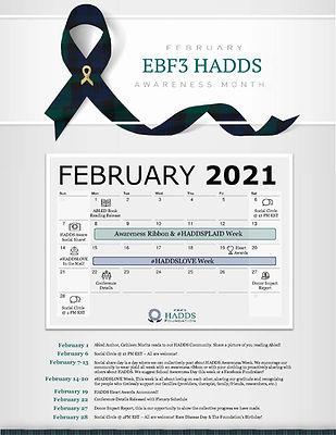 2021 HADDS Awareness Month Schedule FINA