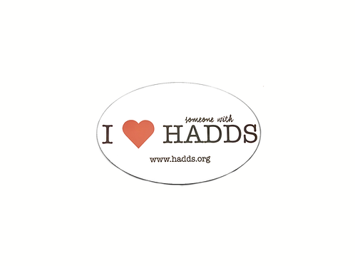I Heart Someone With HADDS Car Magnet