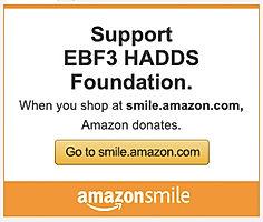 AmazonSmile EBF3 HADDS Foundation banner