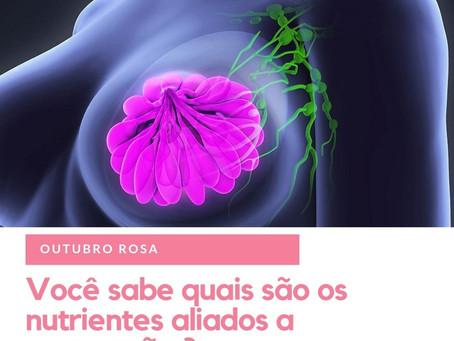 Outubro Rosa e os nutrientes aliados a prevenção do câncer de mama