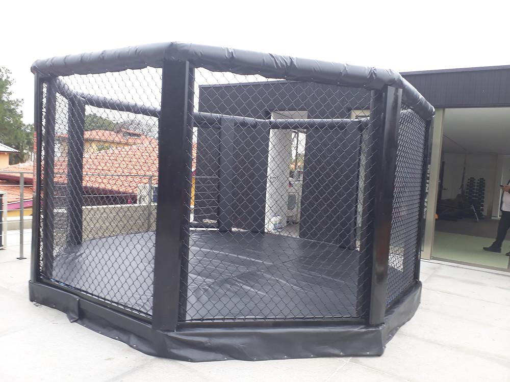 octógono a céu aberto - em laje e para uso residencial - jiu-jitsu