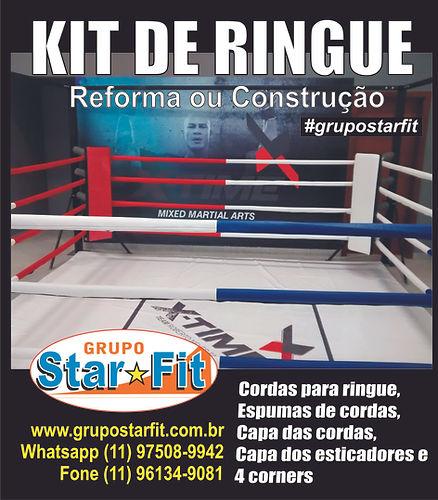 kit de ringue com cordas corners capas de esticadores ringui ring boxe muay thai kick boxing