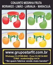 mesa frutinha escorregador parquinho infantil grupo star fit fabrica topogam escorrega brinquedo crianca loja novo