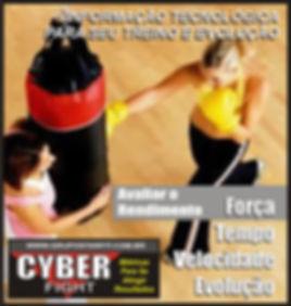 Cyber Fight do Grupo Star Fit sacos de pancada com sensores eletrônicos de última geação