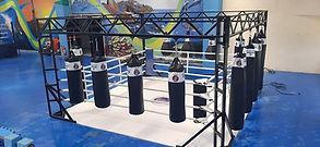 ringue de boxe e muai thai, sistema estação modelo de solo fabricado pelo Grupo Star Fit