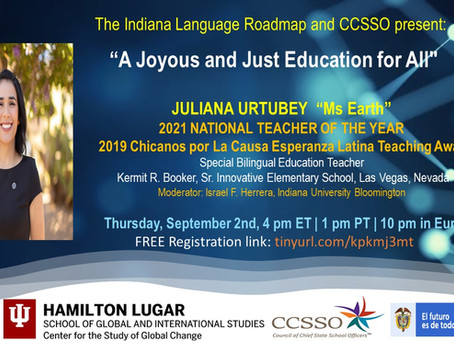 Juliana Urtubey: A colombian bilingual special education teacher named National Teacher of the year