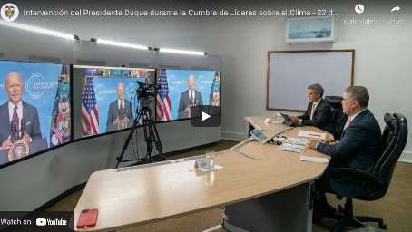 President Duque Proposes Three Actions on Climate Change at World Summit