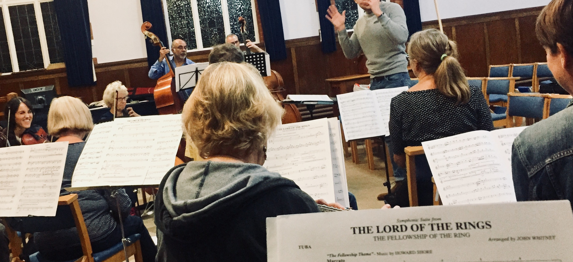 Enfield Film Orchestra in rehearsal