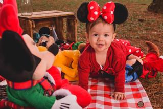 Ensaio de 1 ano - Larissa e a Turma do Mickey!