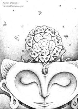 Dessin bouddhiste | Adrien Dusilence
