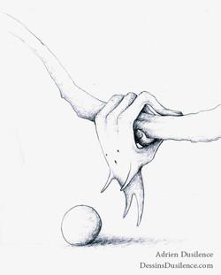 Dessin main | Adrien Dusilence