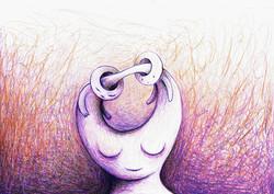 Dessin | illustration | Conflit mental | Adrien Dusilence