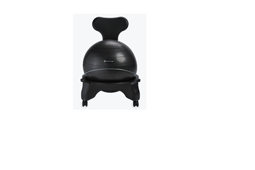 this chair provides allday ergonomic support for a stronger healthier back by sitting on the ball