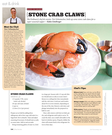 Stone Crab Claws The Ordinary Charleston, SC