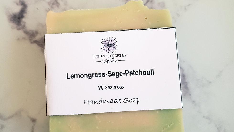 Lemongrass-sage-patchouli Bar Soap