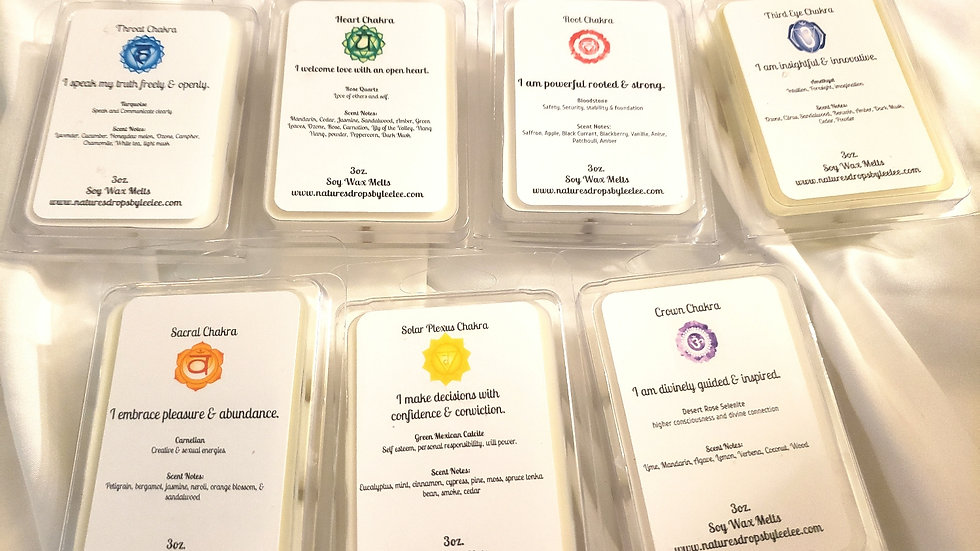 Chakra wax melt collection