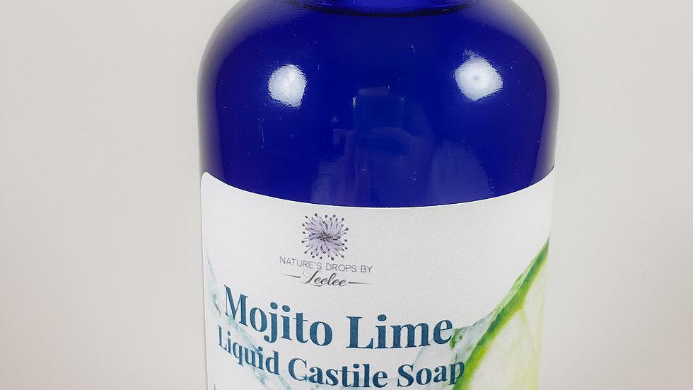 Liquid Castile soap (8oz)- Mojito Lime 8oz