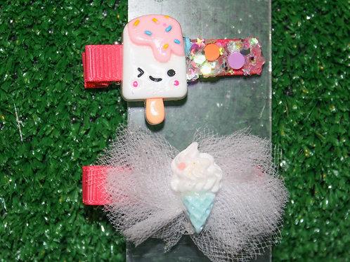 Fluffy Pop Barrette set