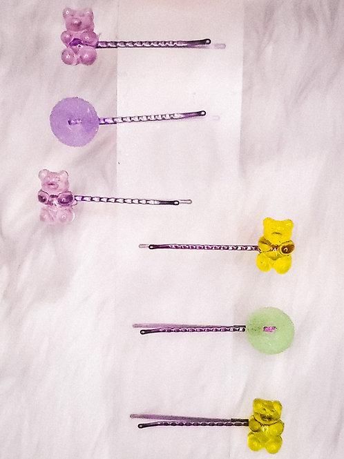 Gummy Some Luv-Hair pin set (6pcs)