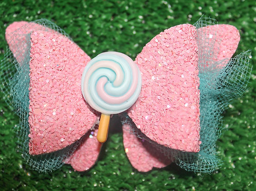 Cotton Candy Blues Hair bow