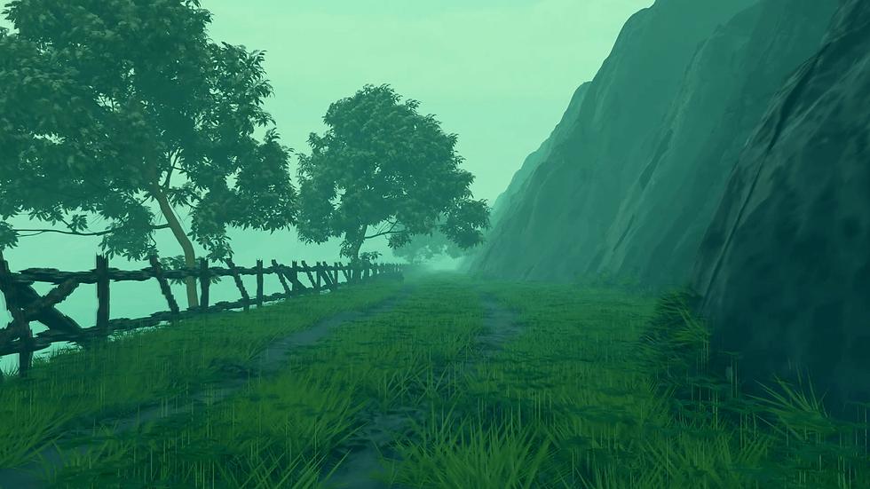 Mountain cliff landscape