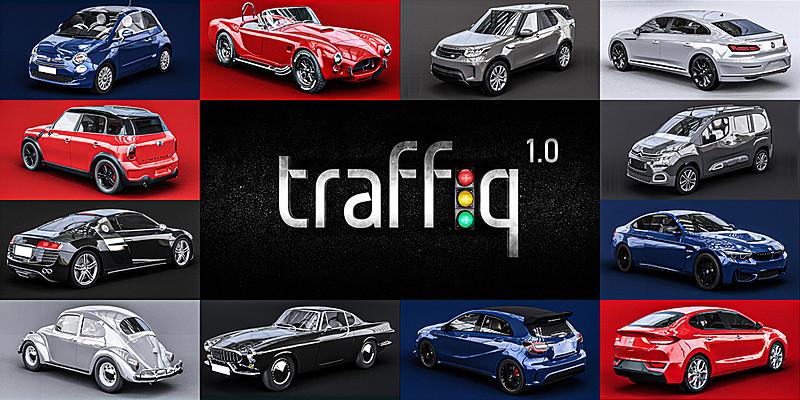 Car Traffic Library- Cars For Blender poster