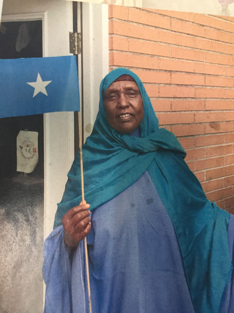 Waving the Somali flag