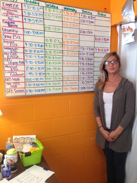 Our family finance intern stands by our class schedule