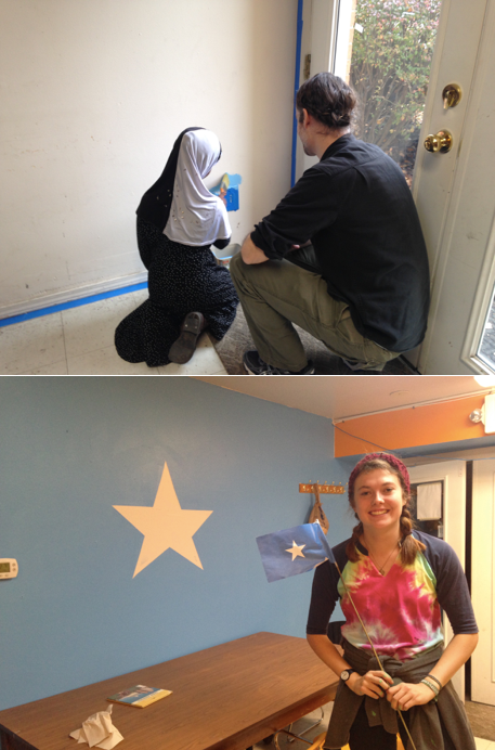 Students from OSU volunteer to paint our community center