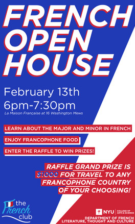 Come learn more about the French Department and the French major and minor!