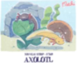 bande dessinée, axolotls, comique