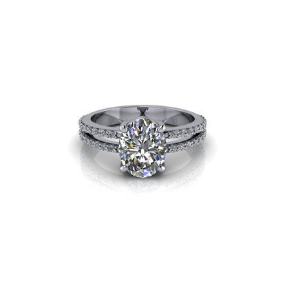 SPLIT OVAL SOLITAIRE RING