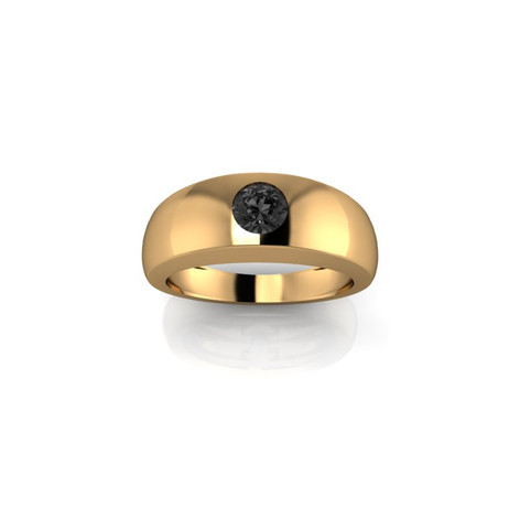 SINGLE BLACK DIAMOND BAND