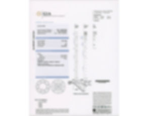 GIA diamond certificate for a bespoke custom ring