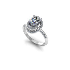 OVAL TWIRL SOLITAIRE RING